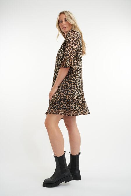 Kleid mit Rüschen und Print