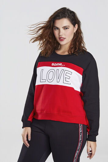 Sweater mit Text-Print