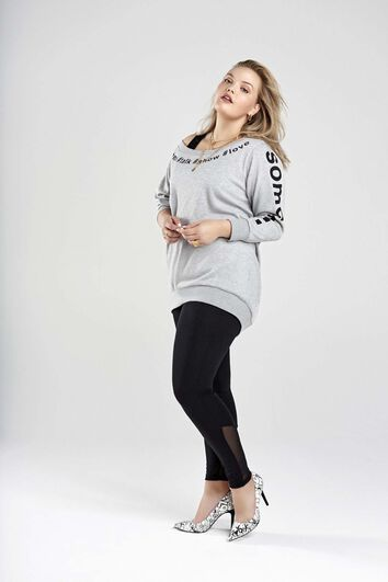 Sweatshirt mit Text-Print