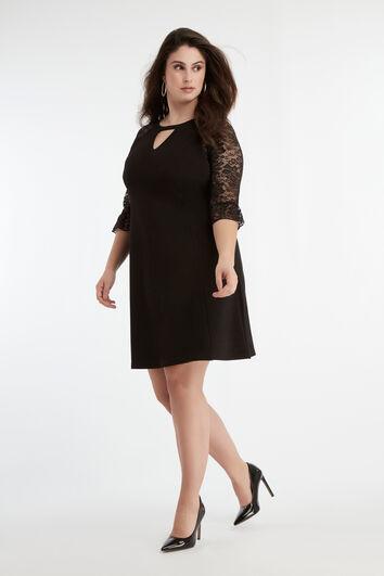 Kleid mit Spitzen-Ärmeln