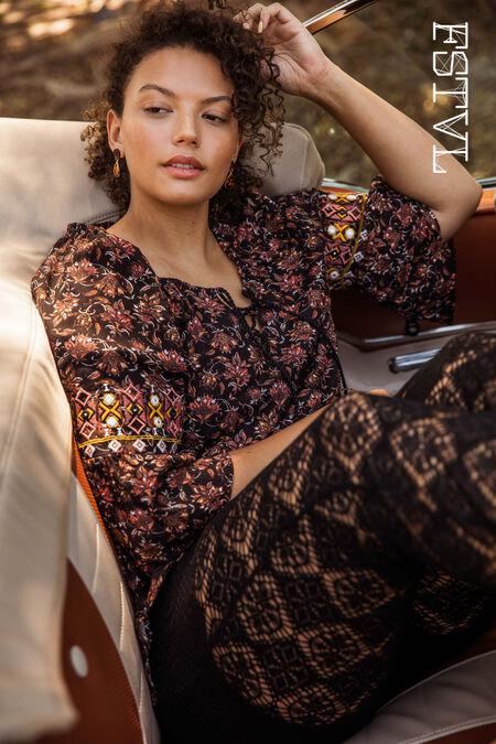 Bluse mit hübschem Print