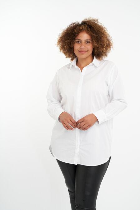 Übergroße Popeline-Bluse