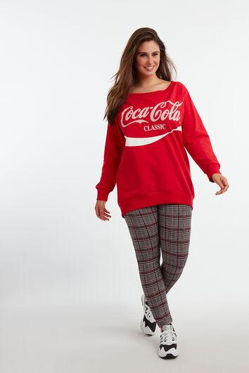 Sweatshirt mit Coca-Cola-Print