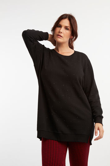 Sweatshirt mit Ziernieten