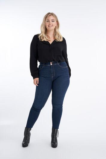 Skinny-Leg-Jeans CHERRY mit hohem Bund