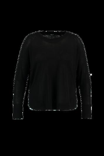 Pullover mit feinem Rippen-Muster