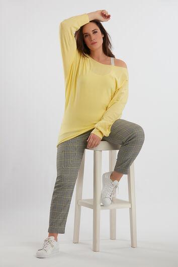 Karierte Hose mit Reißverschluss